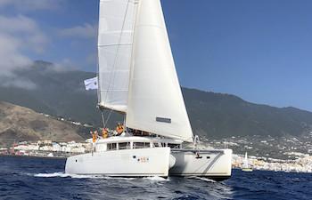 Traversée de l'atlantique en catamaran Lagoon 450F